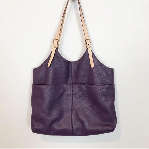 da87b9edad94 Michael Kors Purple Pebbled Leather Shoulder Bag. M_5c00c1cc0cb5aaf2c031c6f5